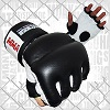 FIGHTERS - MMA Handschuhe / Cage Fight / Schwarz-Weiss / Medium