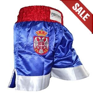 FIGHT-FIT - Muay Thai Shorts / Serbien-Srbija / Zastava / Small